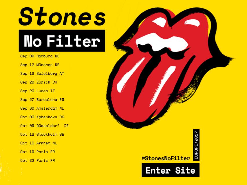 Stones 2017 European tour
