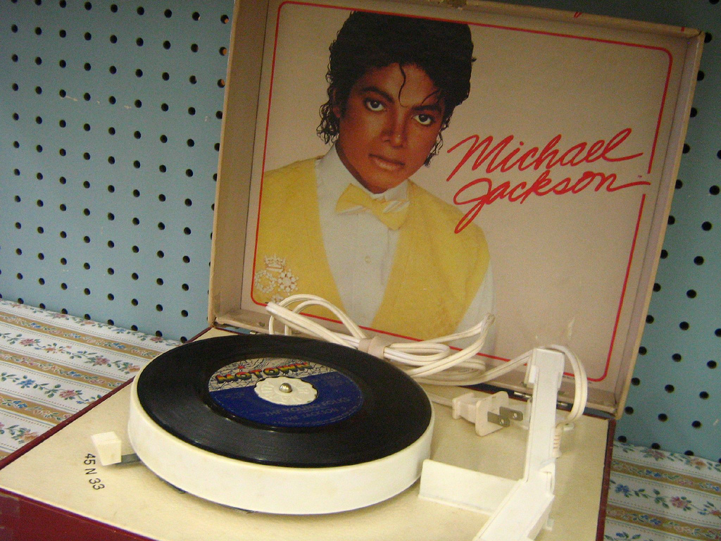 Michael Jackson Thriller portable record player (1984)