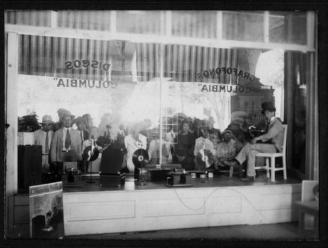 Columbia Graphophone store in Mexico City, 1930's
