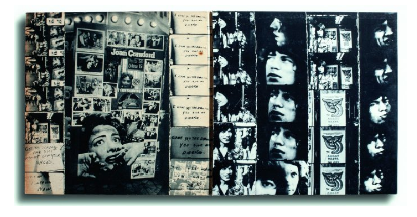 Vinyl: The Rolling Stones, Exile C69100, Inglaterra, 1972. Design: John van Hamersvel / Normal Seeff. Photo: Robert Frank.
