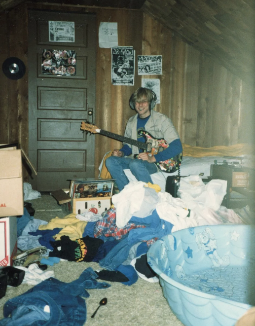 Kurt Cobain pictured in 1986 in a photograph that will form part of an exhibition of his personal items at Museum of Style Icons in Newbridge, Ireland. Photo: Cobain Family.