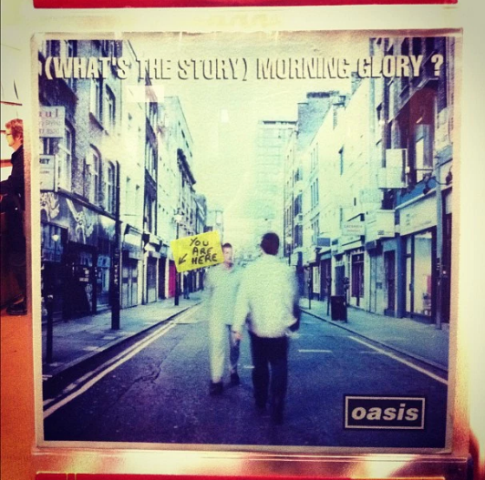 Oasis album cover What's The Story Morning Glory