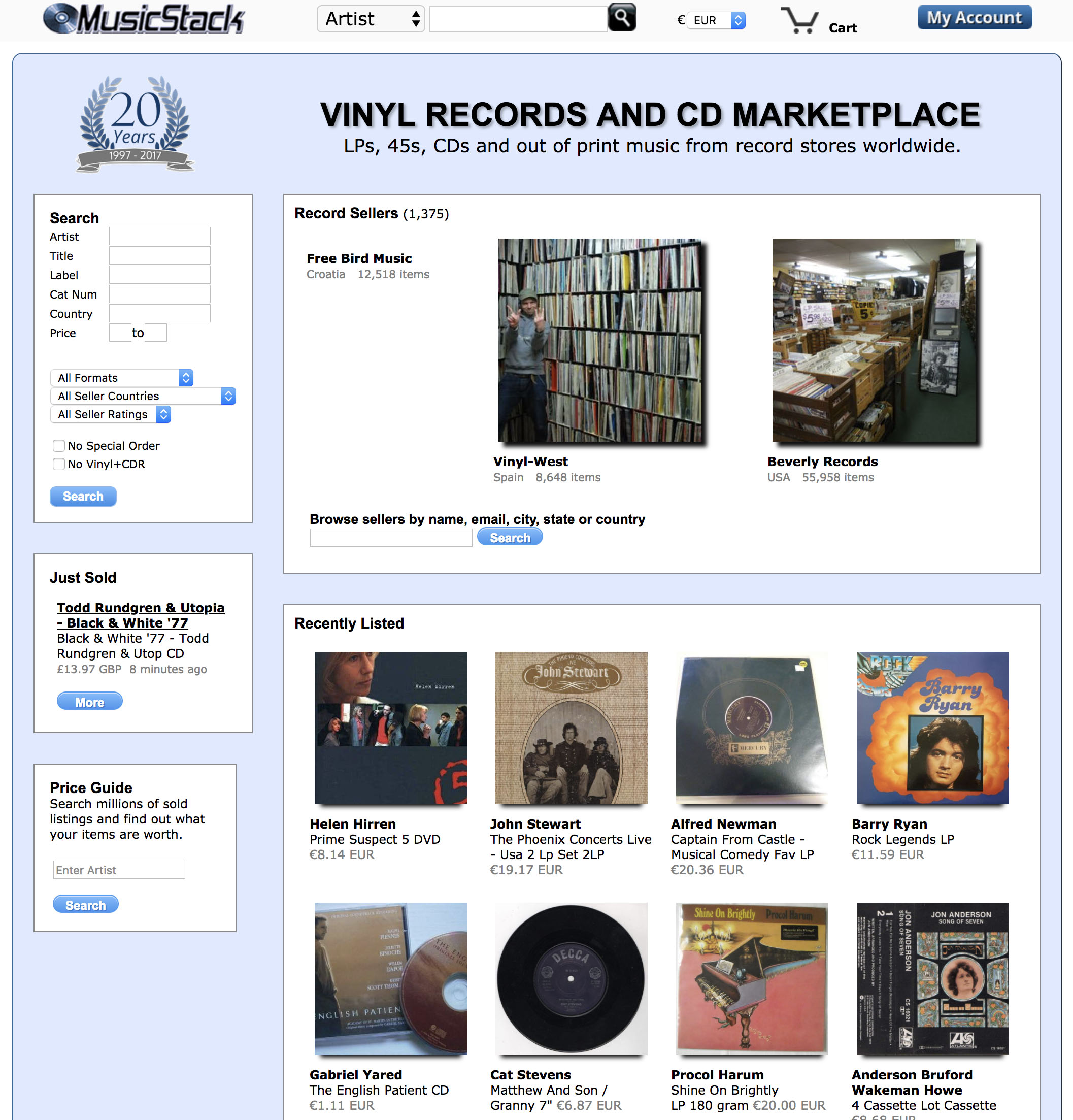 11 Best Places to Buy Vinyl Records Online | Vinylradar Record Shop