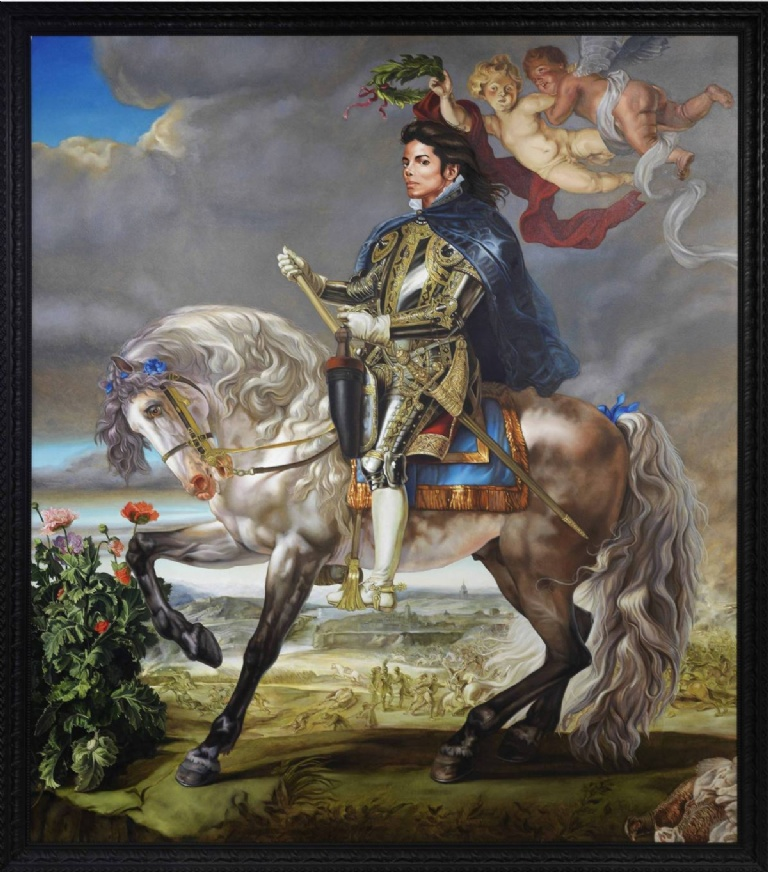 Kehinde Wiley's Equestrian Portrait of King Philip II (Michael Jackson)