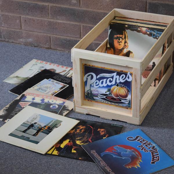 Peaches Record Crate